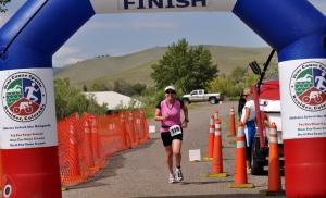 Helena Tri finish line