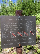 revisedGranite trailhead sign