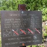 revisedGranite trailhead sign